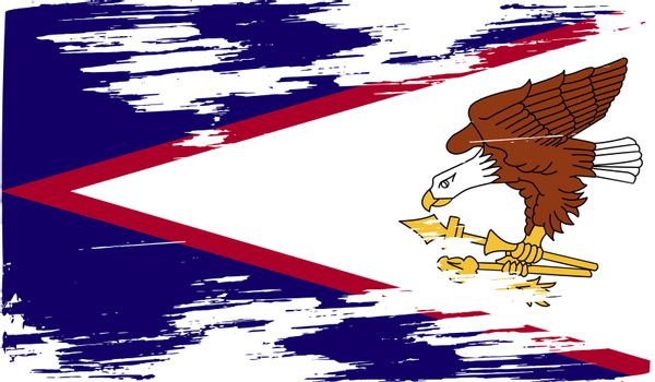 Flag of American Samoa with old texture.