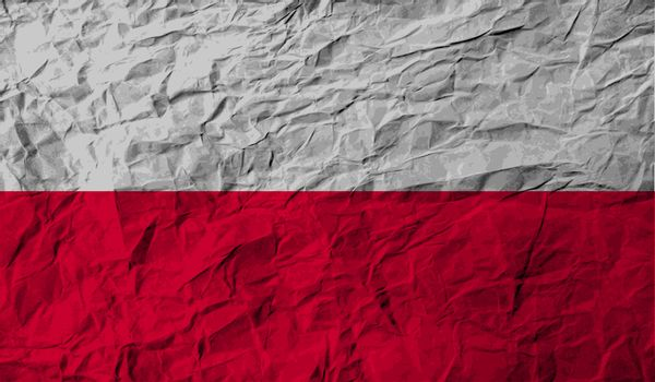 Flag of Poland with old texture.