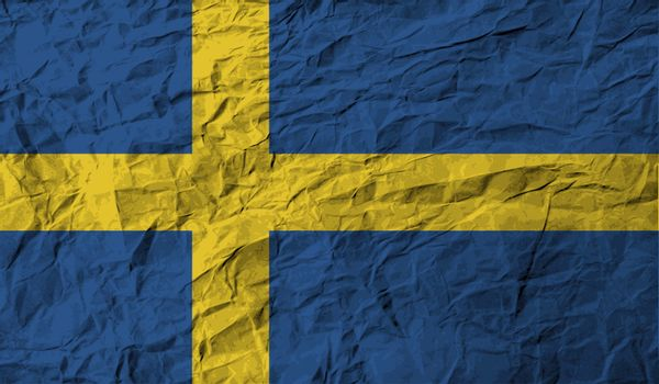 Flag of Sweden with old texture.