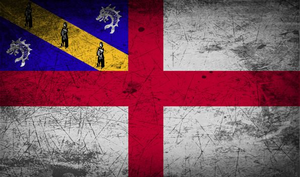 Flag of Herm with old texture.