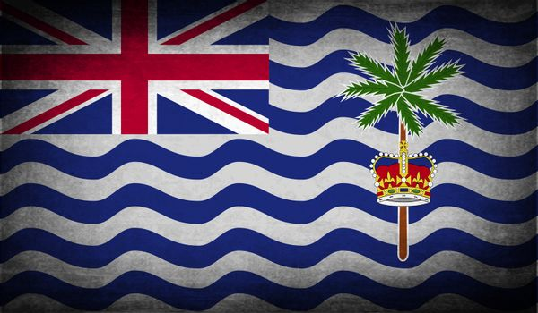 Flag of British Indian Ocean Territory with old texture.