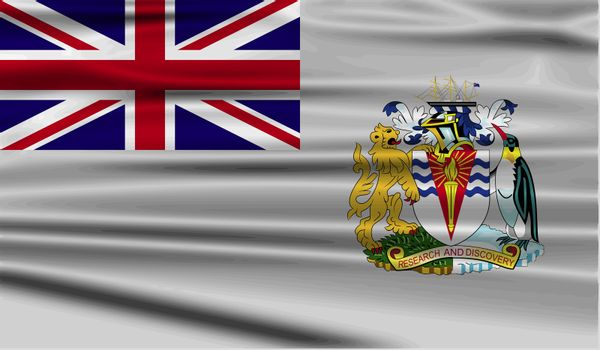 Flag of British Antarctic Territory with old texture.