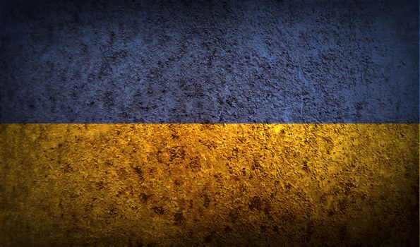 Flag of Ukraine with old texture.