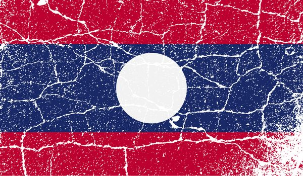 Flag of Laos with old texture.