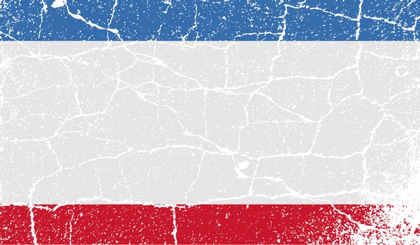 Flag of Crimea with old texture.