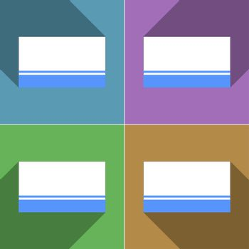 Flags Altai Republic. Set of colors flat design and long shadows.