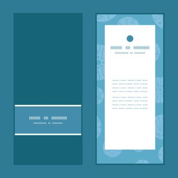 Vector abstract blue brown vintage circles back vertical frame pattern invitation greeting cards set graphic design