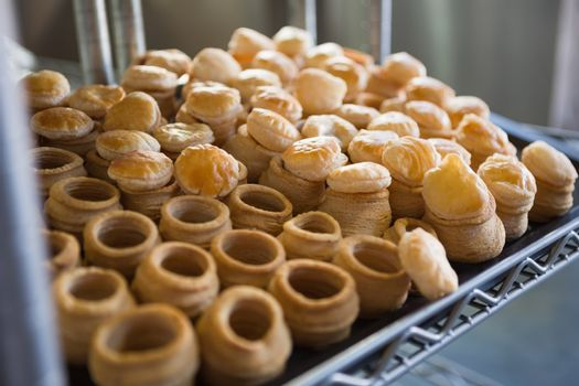 Pastry case filling of delicious pastry