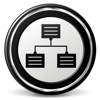 illustration of analytics black and silver icon