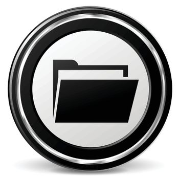 illustration of folder black and silver icon