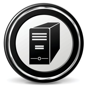 illustration of computer black and silver icon