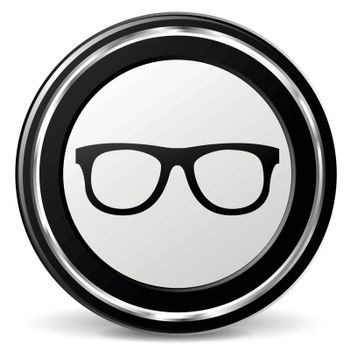 illustration of glasses black and silver icon