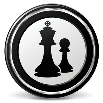 illustration of chess black and silver icon