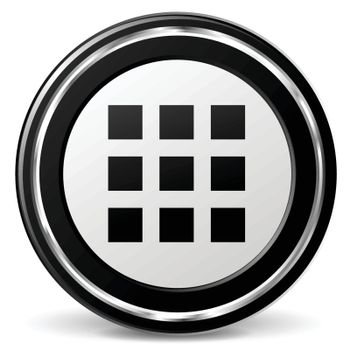 illustration of applications black and silver icon