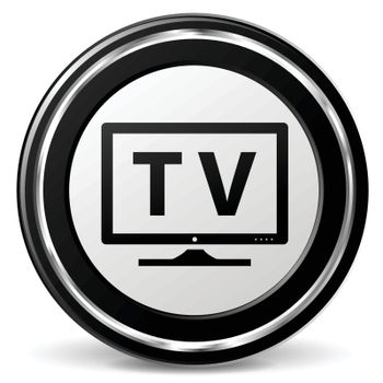 illustration of television black and silver icon