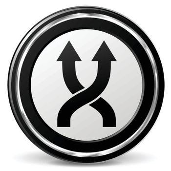illustration of shuffle black and silver icon