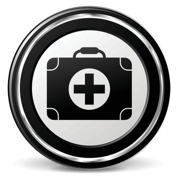 illustration of medical black and silver icon