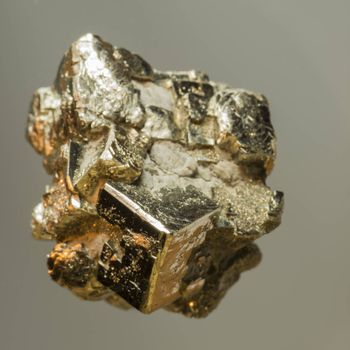 Pyrite form the Musschelkalk quarries in Winterswijk the Netherlands