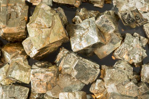 Pyrite form the Musschelkalk quarries in Winterswijk the Netherlands