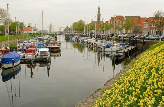 The Marina of Veere in Zeeland in Netherlands
