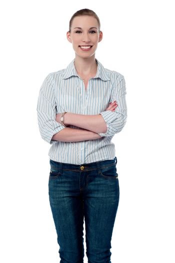 Successful woman with folded arms
