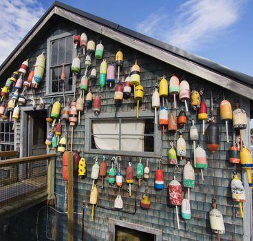 Maine lobster pound shack