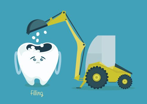 filling tooth