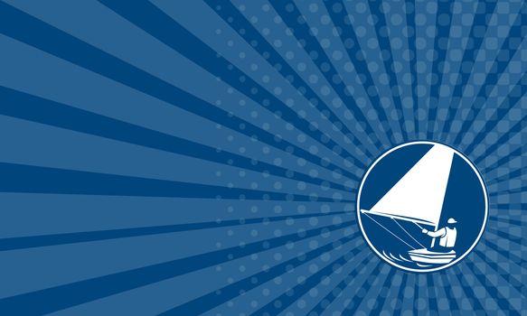 Business card Sailing Yachting Circle Icon