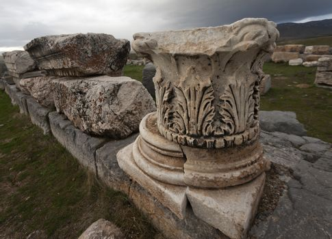 Base and Cap from Corinthian Column