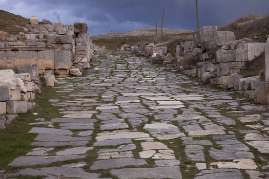Remains of Road Through Antioch Pisidian in Turkey