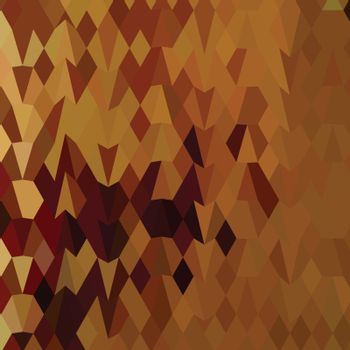 Low polygon style illustration of a autumn leaves abstract background.
