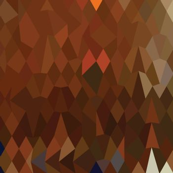 Low polygon style illustration of a brown forest abstract background.