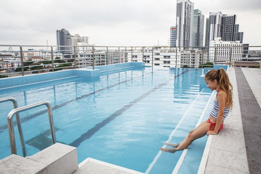 Pool on a roof