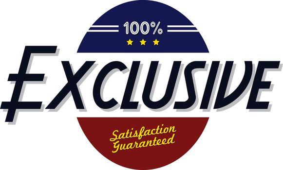 exclusive quality badge