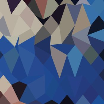 Low polygon style illustration of bluebonnet abstract geometric background.