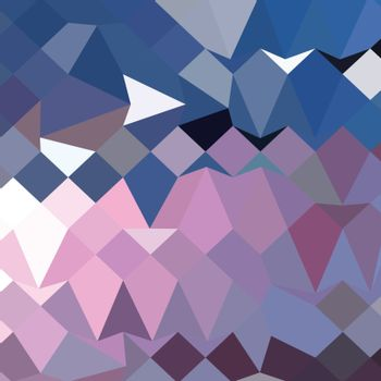 Low polygon style illustration of a celestial blue abstract geometric background.