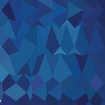 Low polygon style illustration of a cobalt blue abstract geometric background.