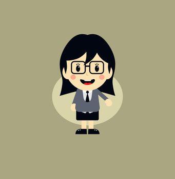 cute girl cartoon character