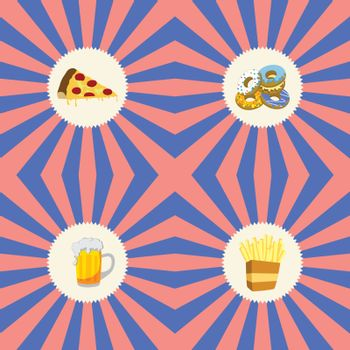 food and drink theme graphic art vector illustration
