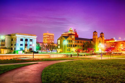 topeka kansas downtown at night