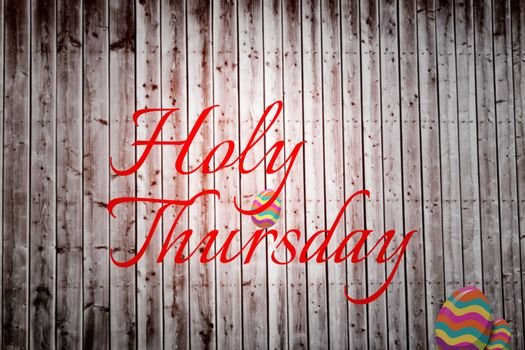Composite image of holy thursday