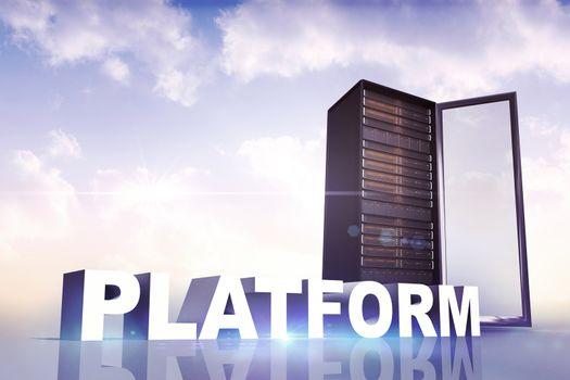 Composite image of platform