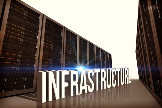 Composite image of infrastructure