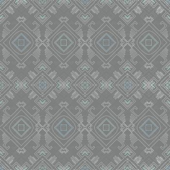 Vector tribal wire grey blue seamless pattern graphic design graphic design