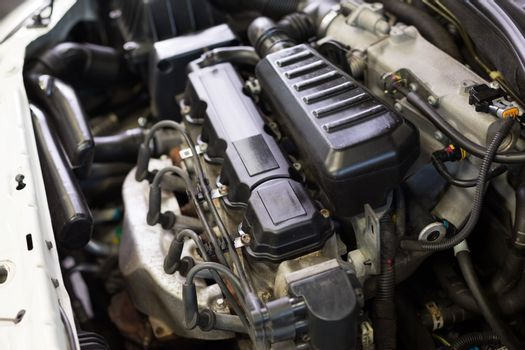 Close up of engine