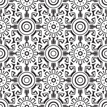 Vector tribal wheels seamless graphic design