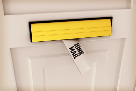 Junk mail against letter through post box