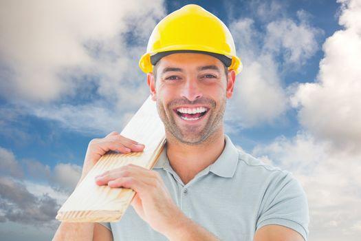 Composite image of carpenter