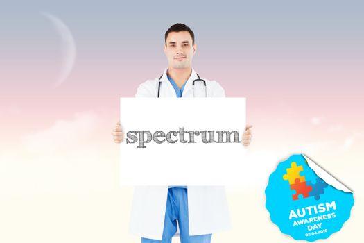 Spectrum against magical sky