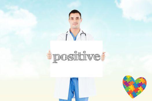 Positive against blue sky
